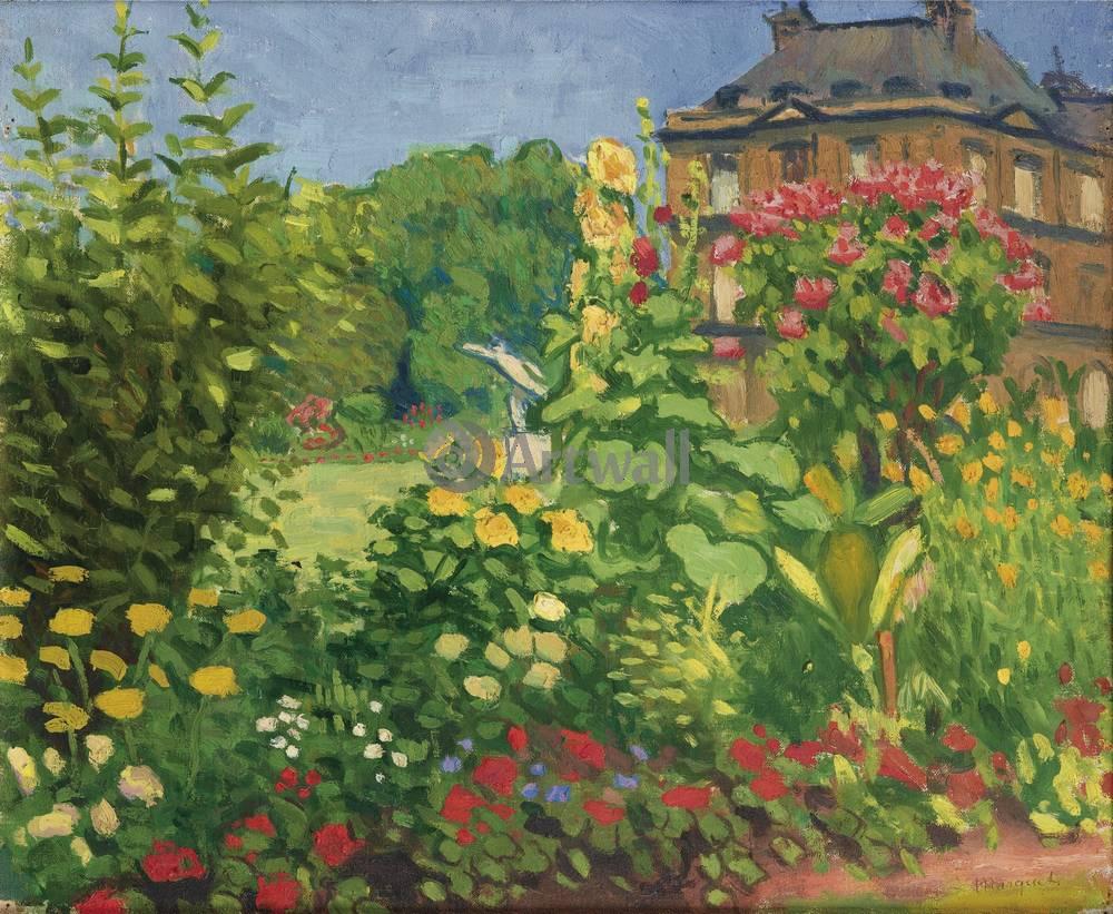 "Художники, картина ""Люксембургский сад"", 24x20 см, на бумаге от Artwall"