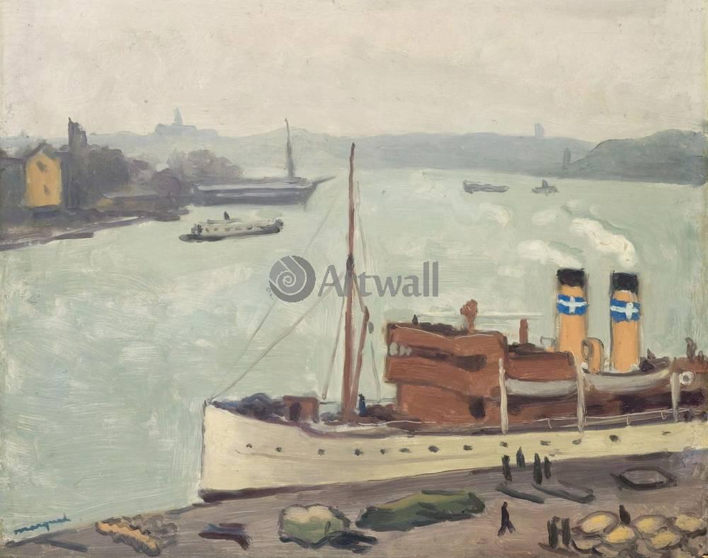 """Художники, картина """"Марсель, старый порт"""", 25x20 см, на бумаге от Artwall"""