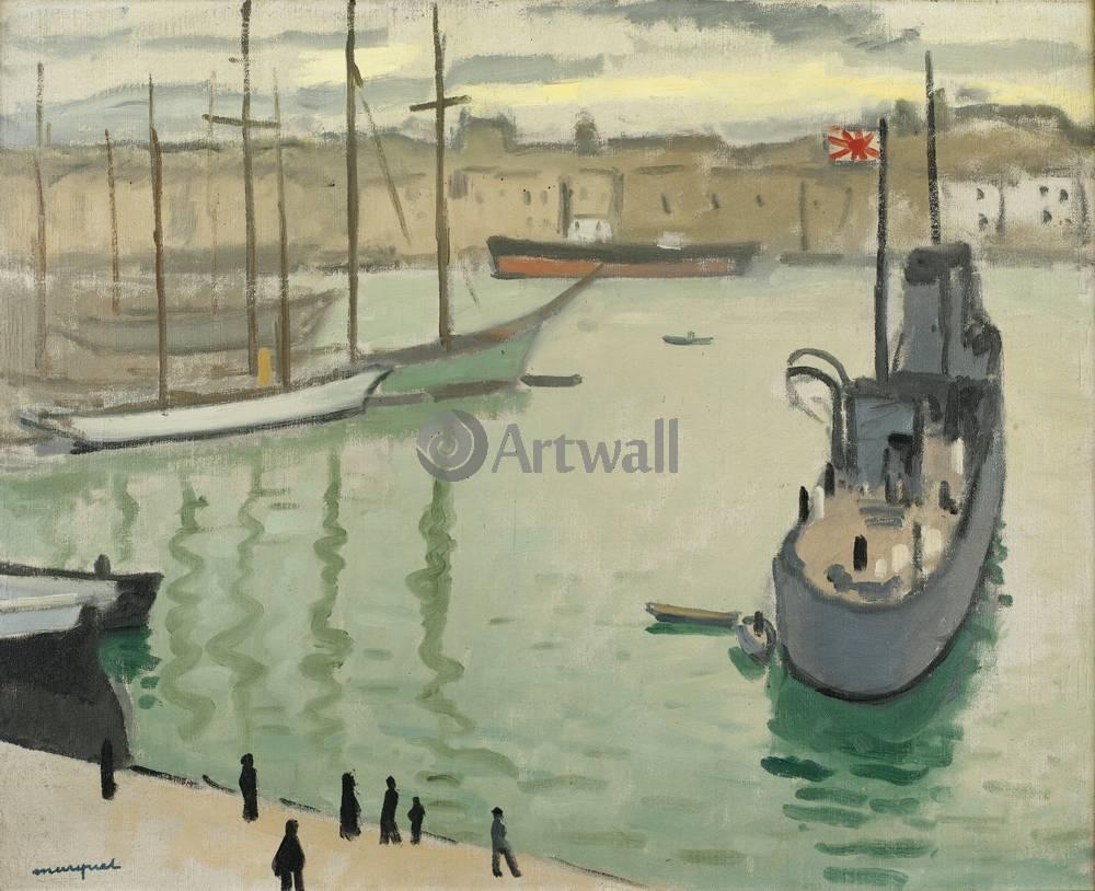 """Художники, картина """"Марсель, японское судно"""", 25x20 см, на бумаге от Artwall"""