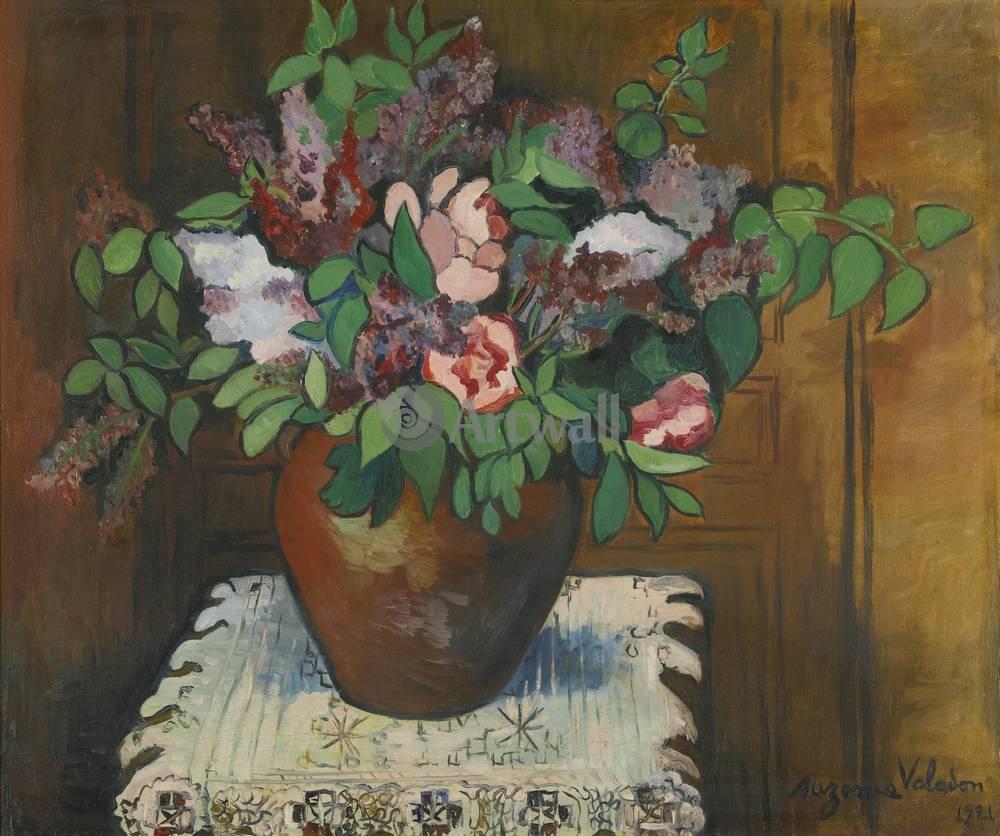 """Художники, картина """"Ваза с цветами"""", 24x20 см, на бумаге от Artwall"""