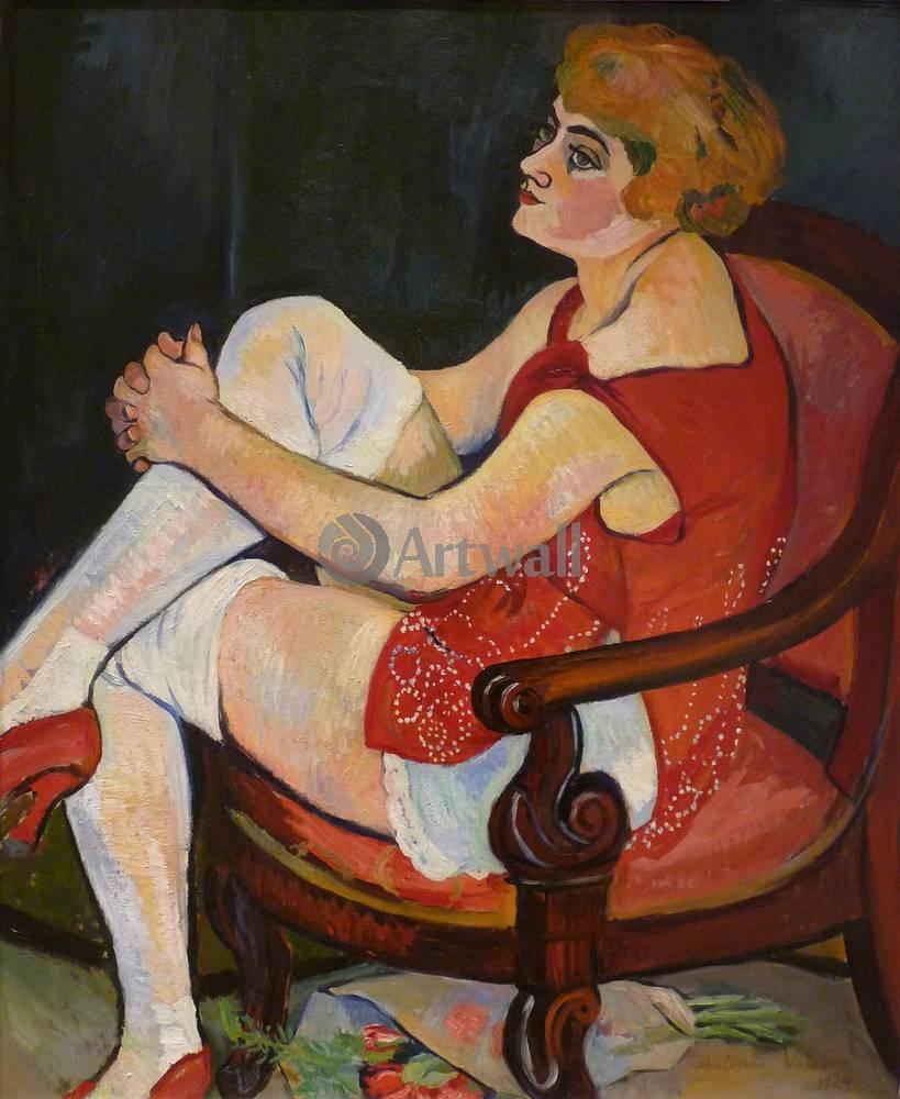 """Художники, картина """"Женщина в белых чулках"""", 20x24 см, на бумаге от Artwall"""