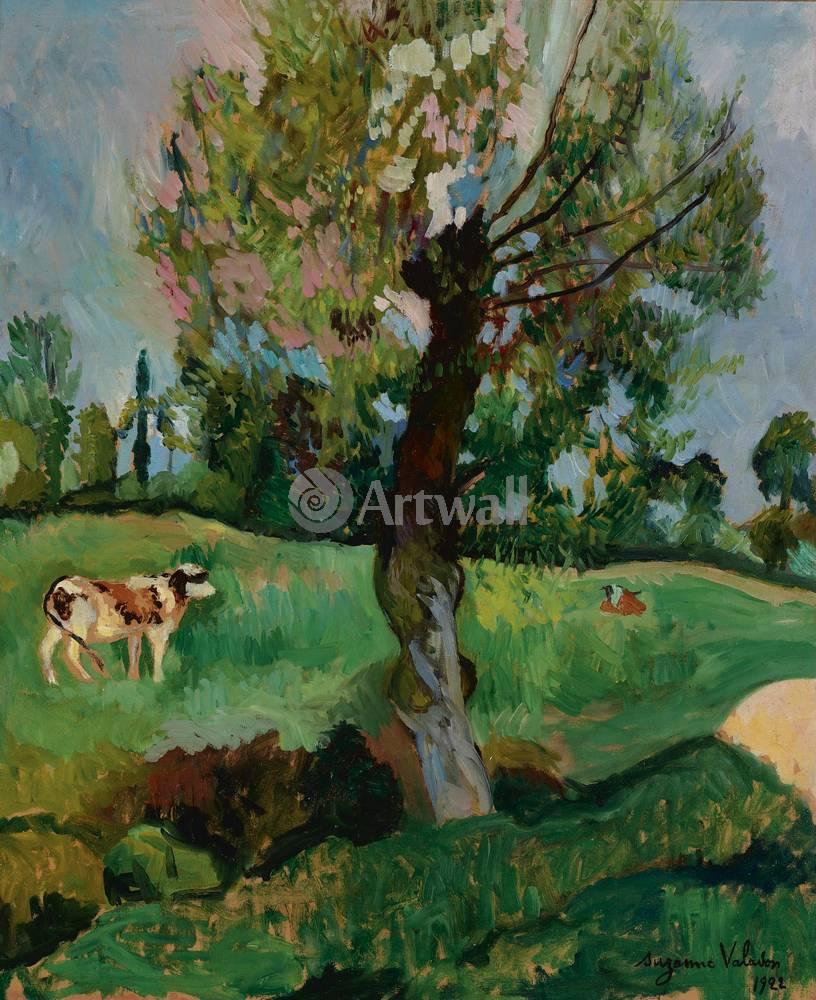 """Художники, картина """"Ольха на лугу"""", 20x25 см, на бумаге от Artwall"""