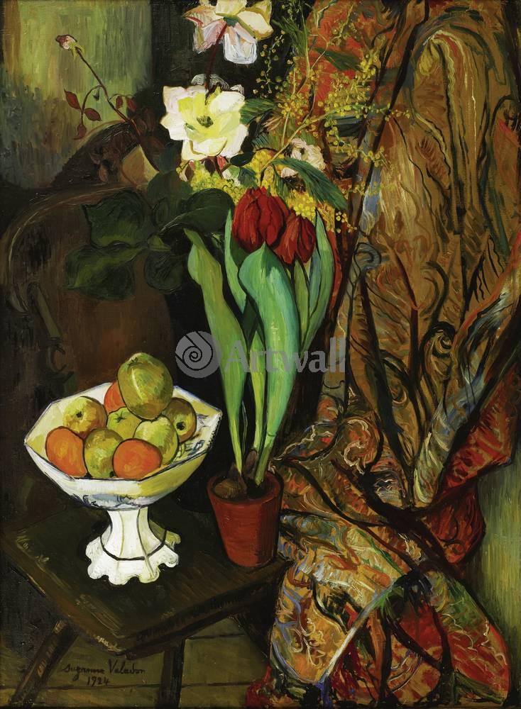 """Художники, картина """"Тюльпаны и фрукты"""", 20x27 см, на бумаге от Artwall"""