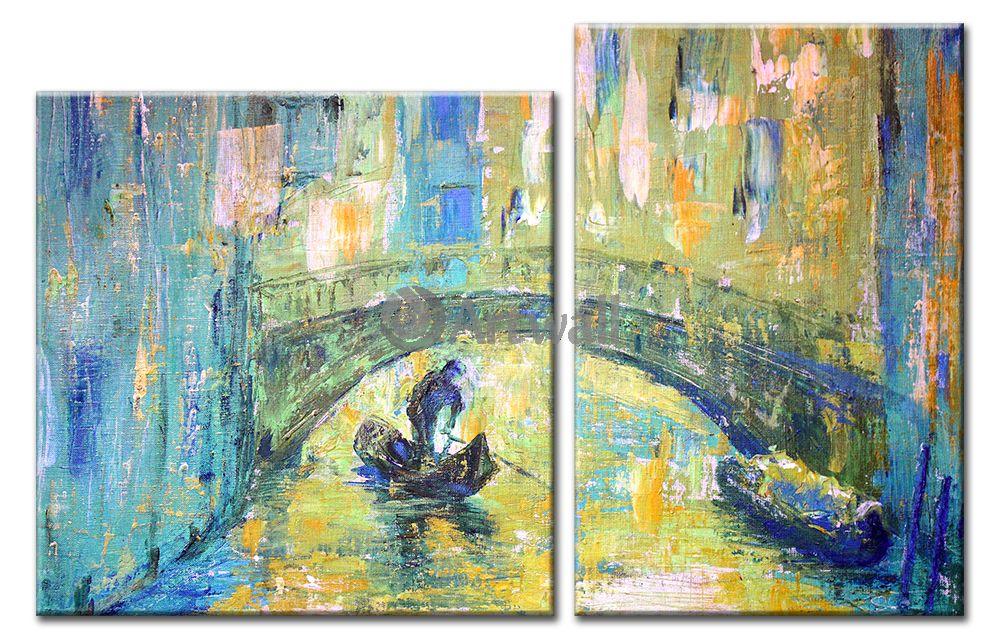 Модульная картина «Живописная Венеция», 78x50 см, модульная картина от Artwall