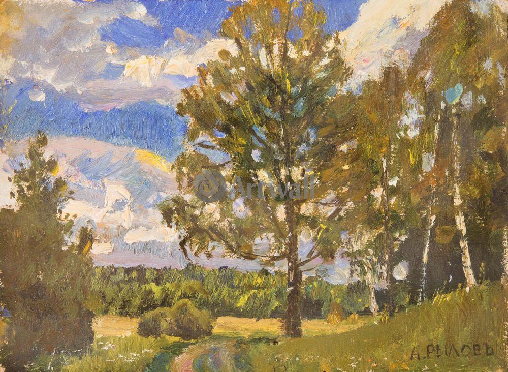 "Художники, картина ""Летний пейзаж"", 27x20 см, на бумаге от Artwall"