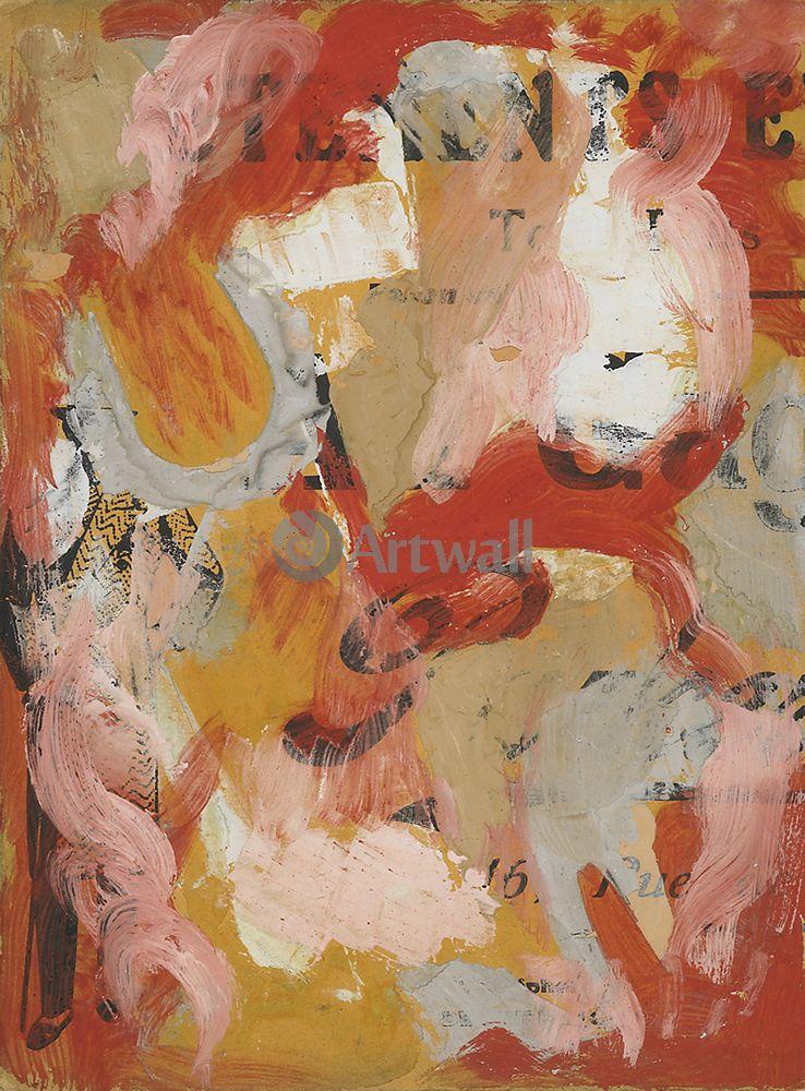 """Художники, картина """"Абстракция"""", 20x27 см, на бумаге от Artwall"""