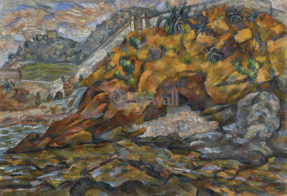 "Художники, картина ""Вид около Бастиа"", 29x20 см, на бумаге от Artwall"
