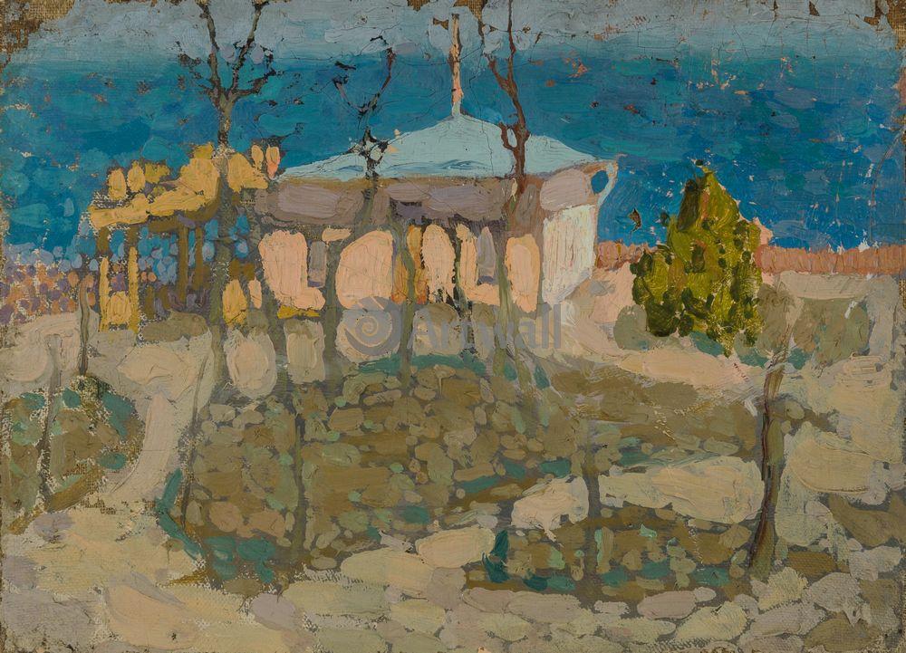 """Художники, картина """"Дом на берегу Черного моря"""", 28x20 см, на бумаге от Artwall"""