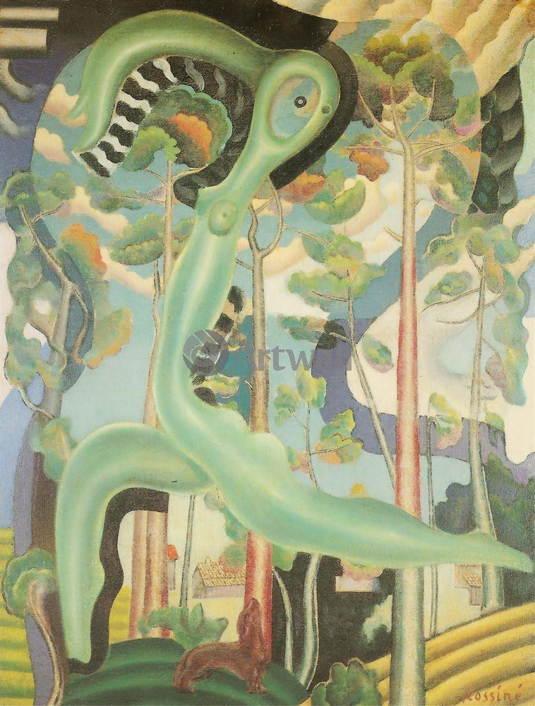 """Художники, картина """"Картина с афиши выставки"""", 20x26 см, на бумаге от Artwall"""