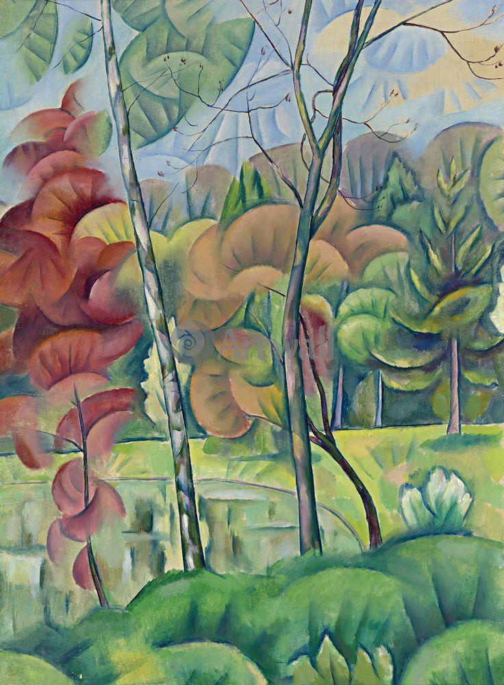 """Художники, картина """"Осенние деревья"""", 20x27 см, на бумаге от Artwall"""