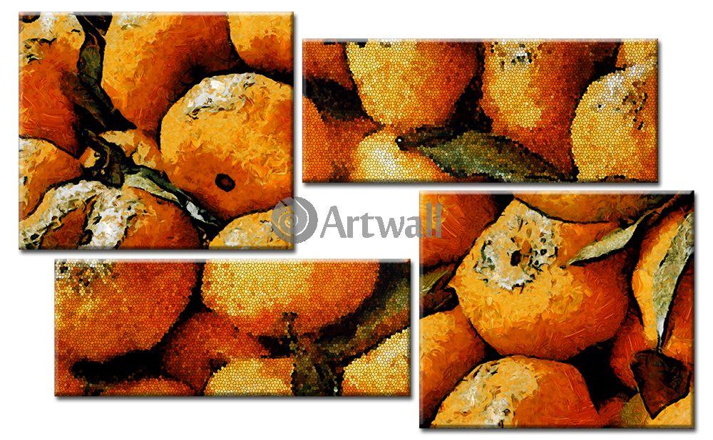 Модульная картина «Оранжевые фрукты», 81x50 см, модульная картина от Artwall