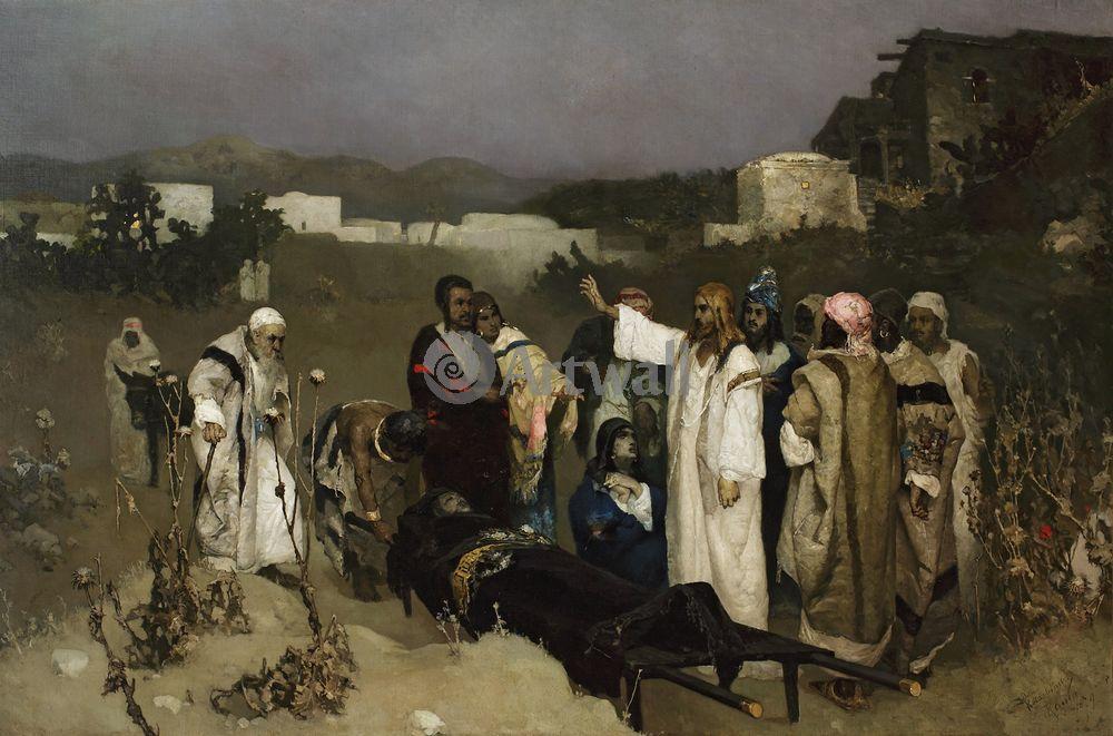 """Художники, картина """"Воскресение сына вдовы из Наина"""", 30x20 см, на бумаге от Artwall"""