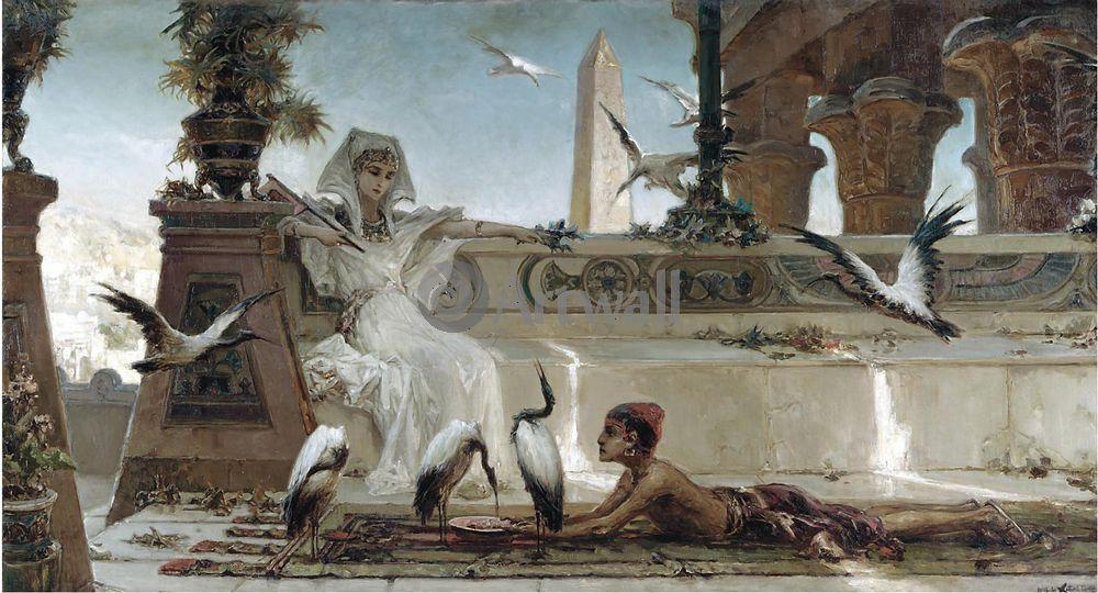 "Художники, картина ""Клеопатра"", 37x20 см, на бумаге от Artwall"