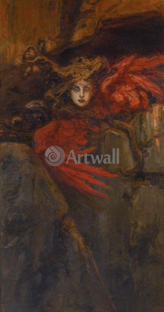 """Художники, картина """"Медуза"""", 20x38 см, на бумаге от Artwall"""