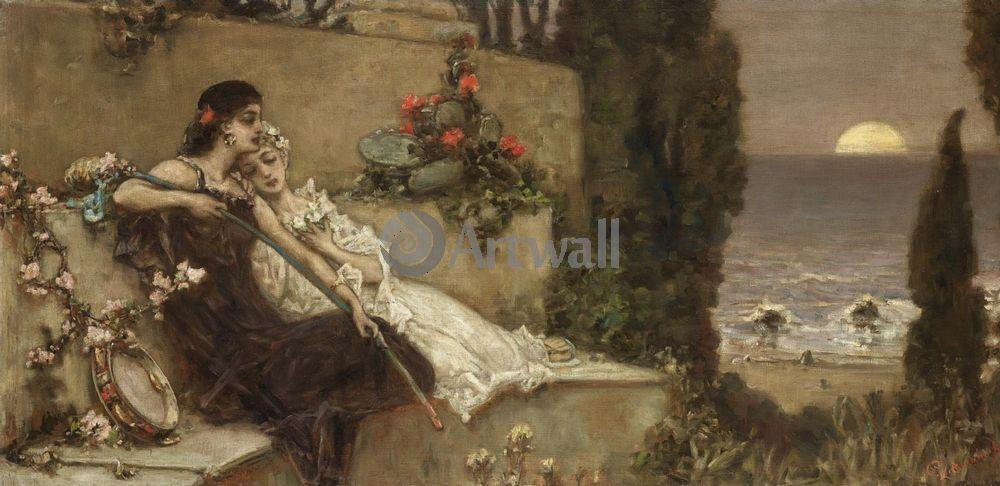 "Художники, картина ""Отдых на берегу"", 41x20 см, на бумаге от Artwall"