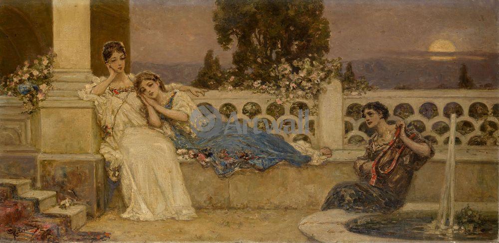 "Художники, картина ""Серенада"", 41x20 см, на бумаге от Artwall"