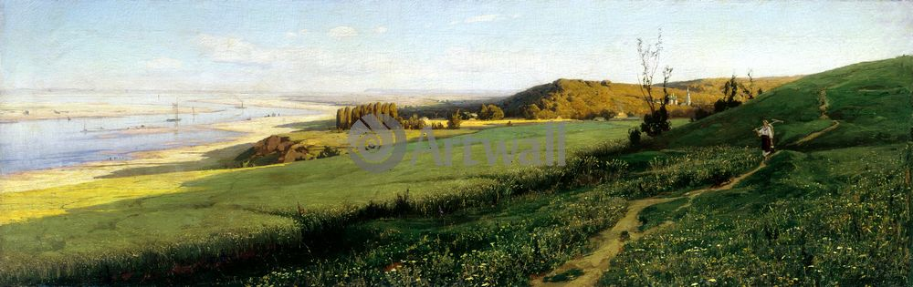 "Художники, картина ""Днепр"", 63x20 см, на бумаге от Artwall"