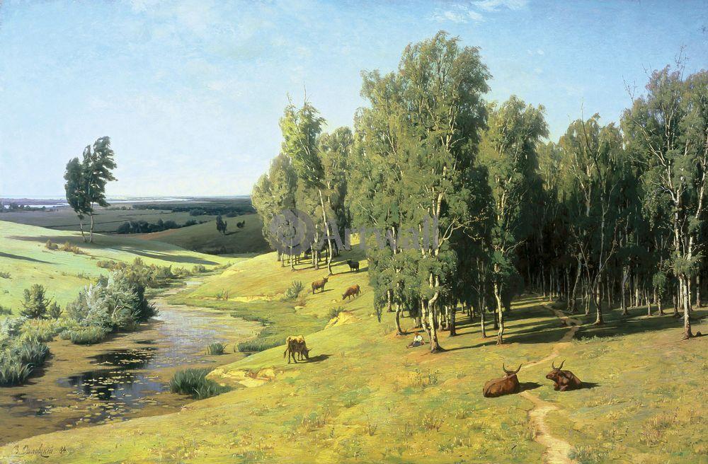 """Художники, картина """"Летний день"""", 30x20 см, на бумаге от Artwall"""