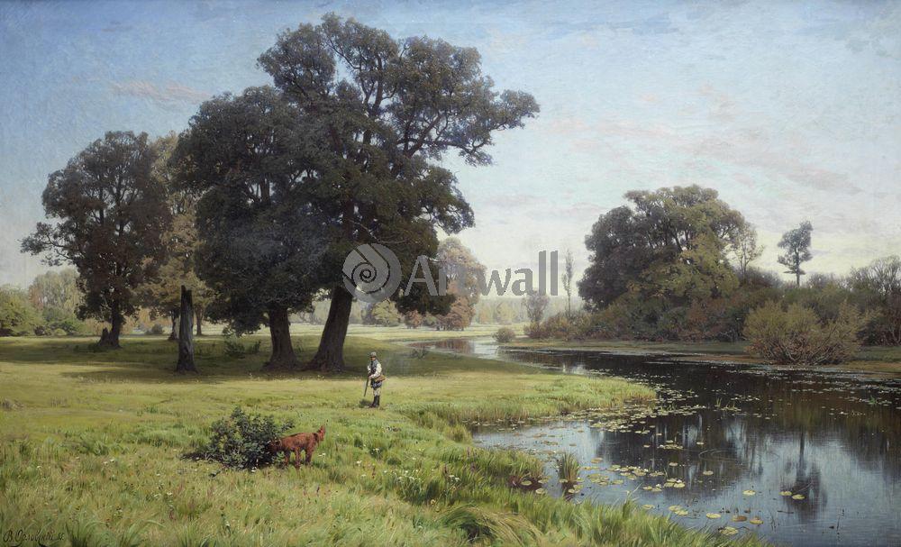 """Художники, картина """"Река Гнилица"""", 33x20 см, на бумаге от Artwall"""