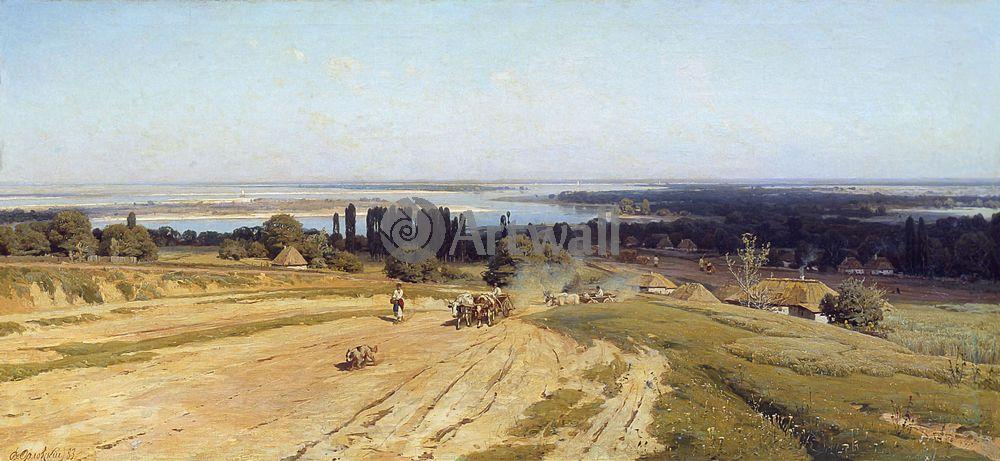 """Художники, картина """"Украинский пейзаж"""", 43x20 см, на бумаге от Artwall"""