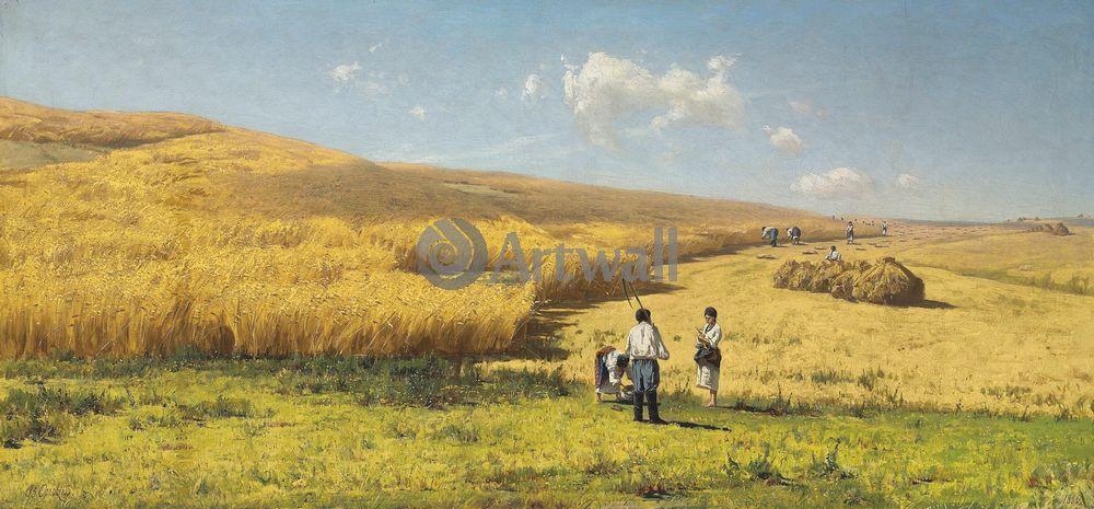 """Художники, картина """"Урожай"""", 43x20 см, на бумаге от Artwall"""