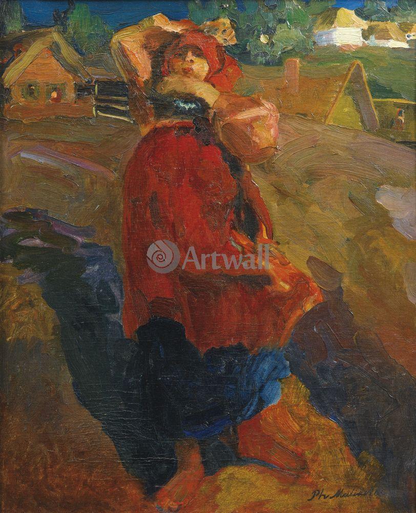 """Художники, картина """"Баба"""", 20x25 см, на бумаге от Artwall"""