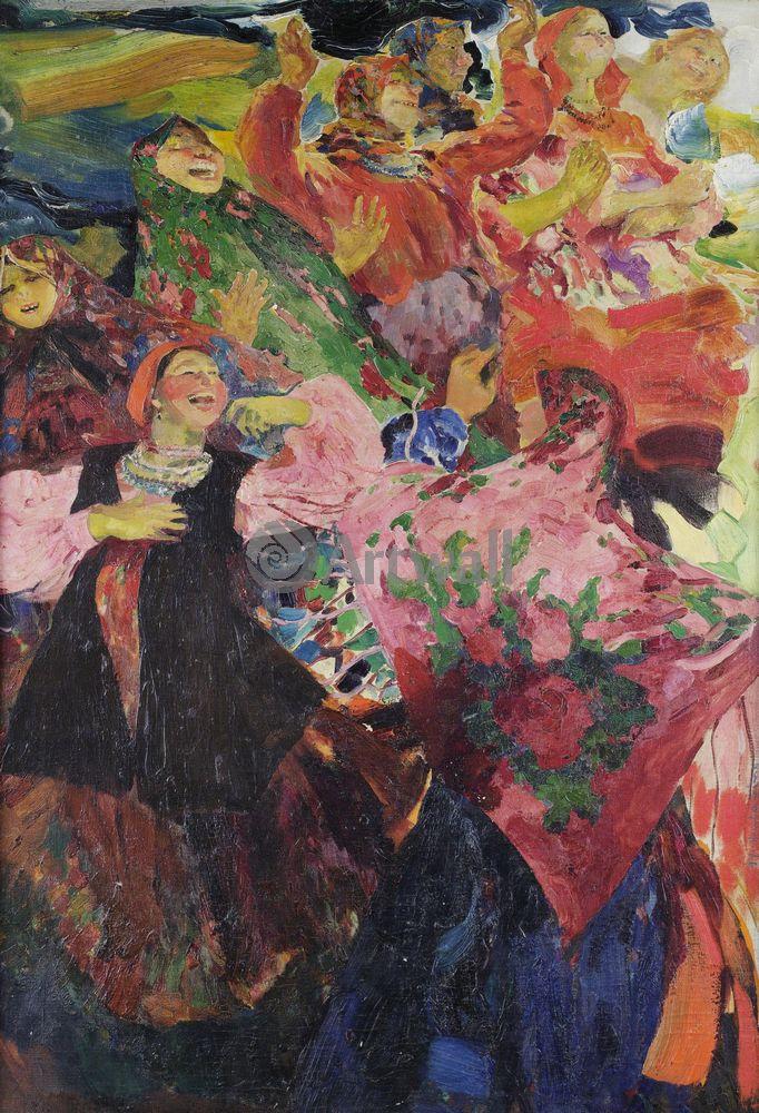 "Художники, картина ""Деревня танцует"", 20x29 см, на бумаге от Artwall"