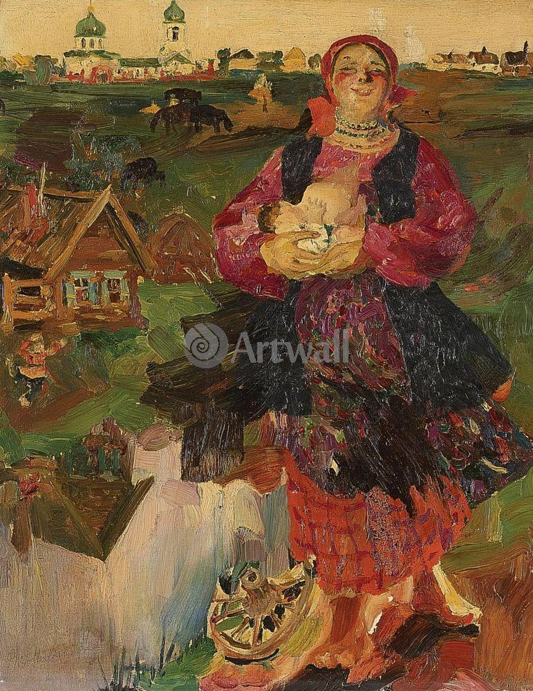 """Художники, картина """"Мать-Россия"""", 20x26 см, на бумаге от Artwall"""