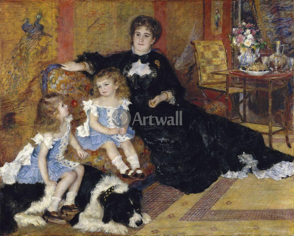 """Художники, картина """"Мадам Шарпентье и ее дети"""", 25x20 см, на бумаге от Artwall"""