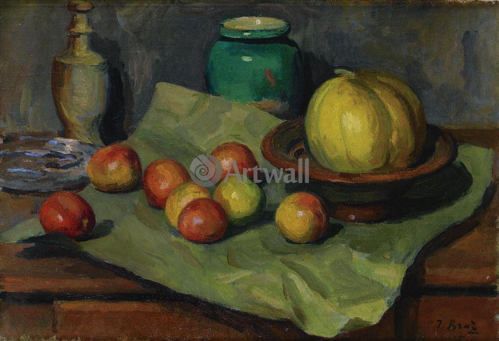 "Художники, картина ""Натюрморт с яблоками"", 29x20 см, на бумаге от Artwall"