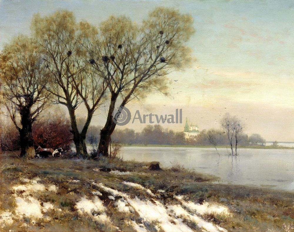 """Художники, картина """"Ранняя весна"""", 25x20 см, на бумаге от Artwall"""