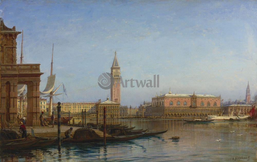 """Художники, картина """"Венеция, таможня"""", 32x20 см, на бумаге от Artwall"""