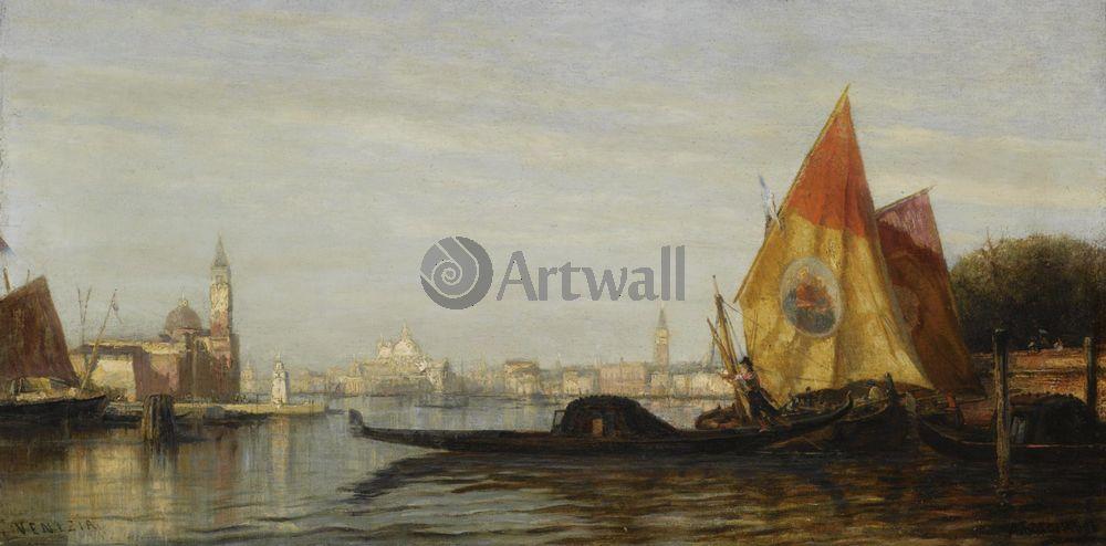 """Художники, картина """"Венеция"""", 40x20 см, на бумаге от Artwall"""