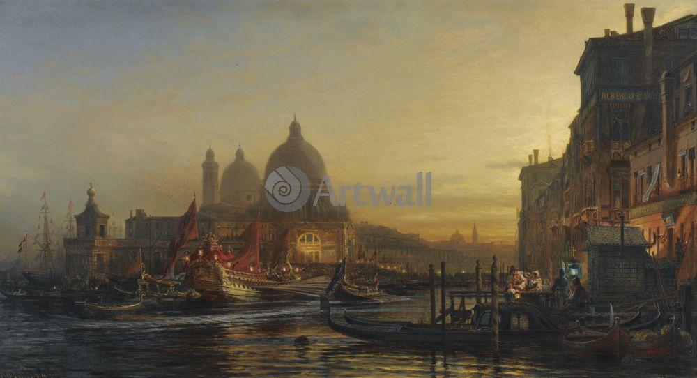 """Художники, картина """"Венеция"""", 37x20 см, на бумаге от Artwall"""