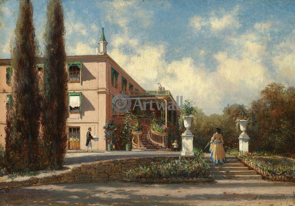 """Художники, картина """"Дворец в Ливадии"""", 29x20 см, на бумаге от Artwall"""
