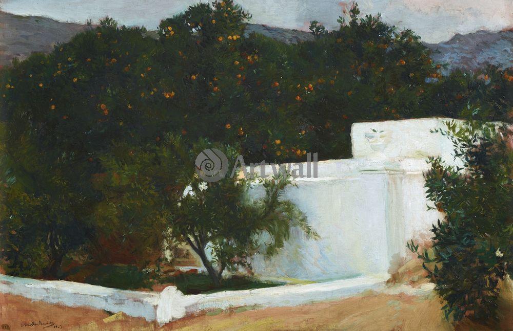 """Художники, картина """"Апельсиновые деревья"""", 31x20 см, на бумаге от Artwall"""