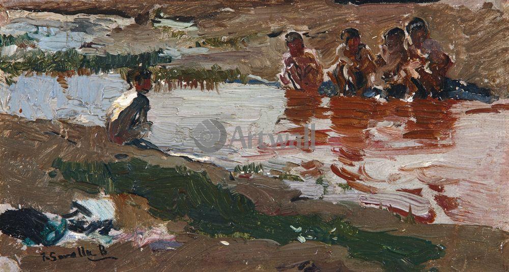 """Художники, картина """"В Рио"""", 37x20 см, на бумаге от Artwall"""