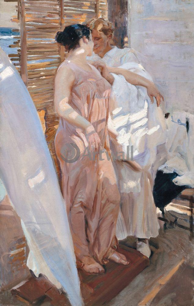 "Художники, картина ""В розовом"", 20x31 см, на бумаге от Artwall"