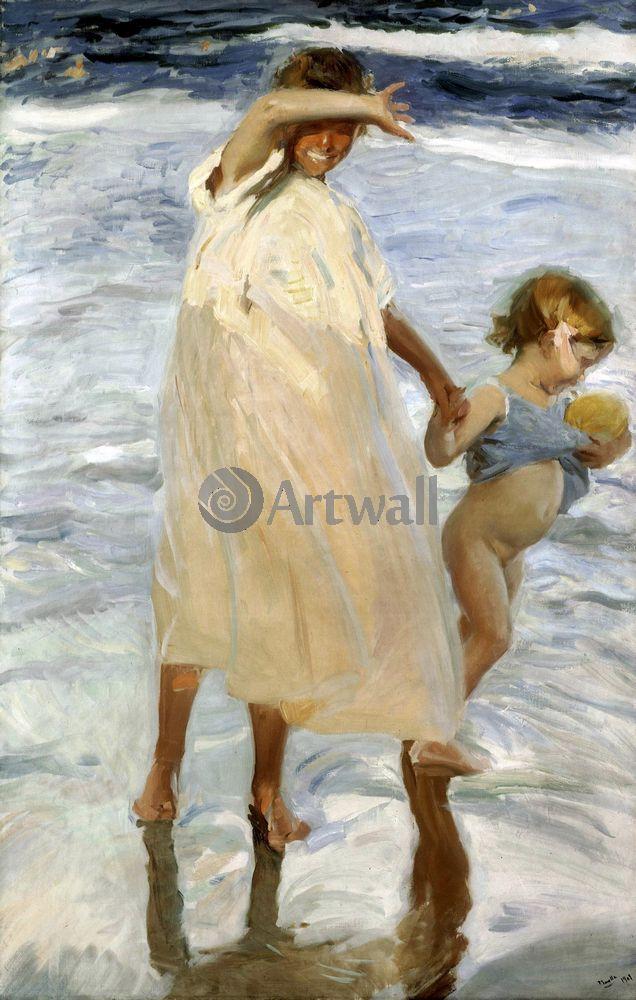 """Художники, картина """"Две сестры"""", 20x31 см, на бумаге от Artwall"""