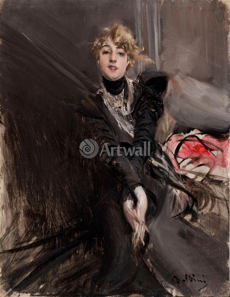 """Художники, картина """"Актриса Жанна Ренуар"""", 20x26 см, на бумаге от Artwall"""
