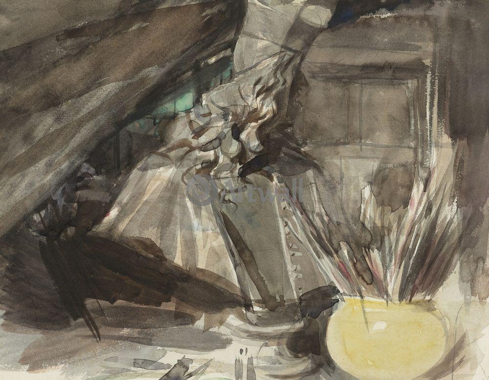 "Художники, картина ""Бюст кадинала Леопольда ди Медичи"", 26x20 см, на бумаге от Artwall"
