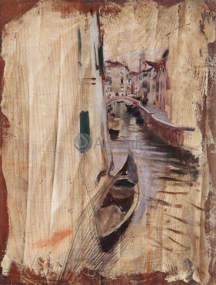 """Художники, картина """"Венецианский канал"""", 20x26 см, на бумаге от Artwall"""