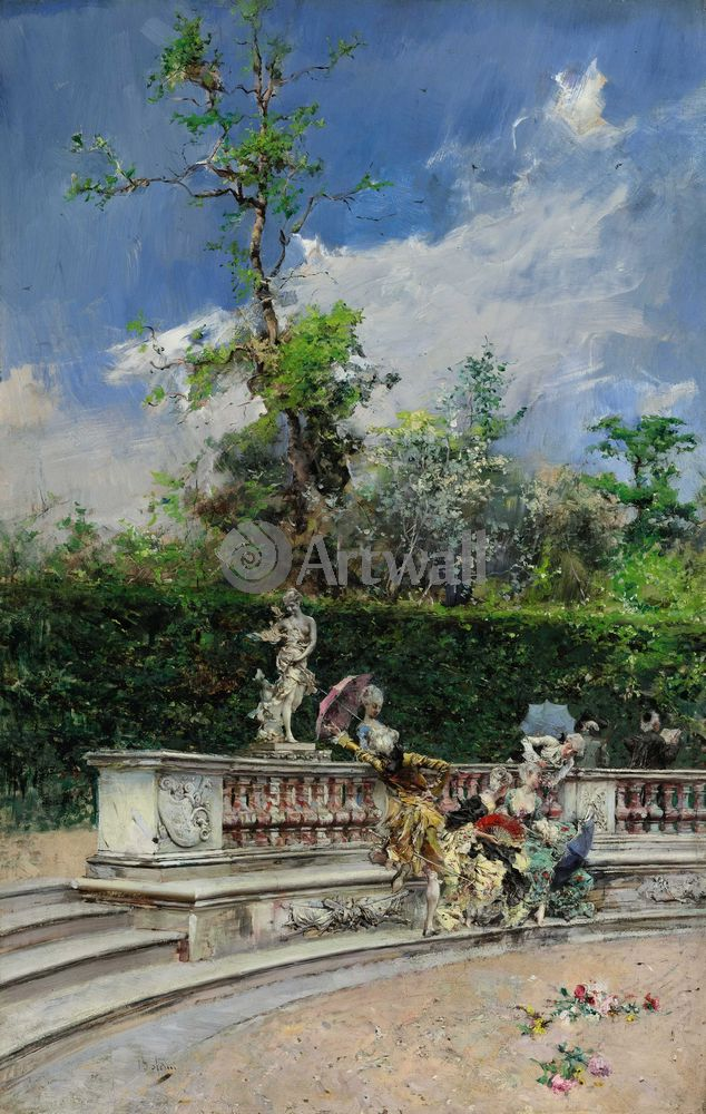 """Художники, картина """"Версальские дамы"""", 20x32 см, на бумаге от Artwall"""