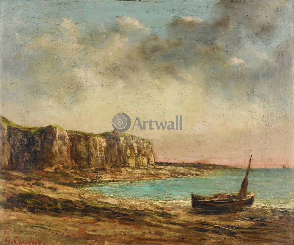 "Художники, картина ""Вид нормандского берега"", 24x20 см, на бумаге от Artwall"