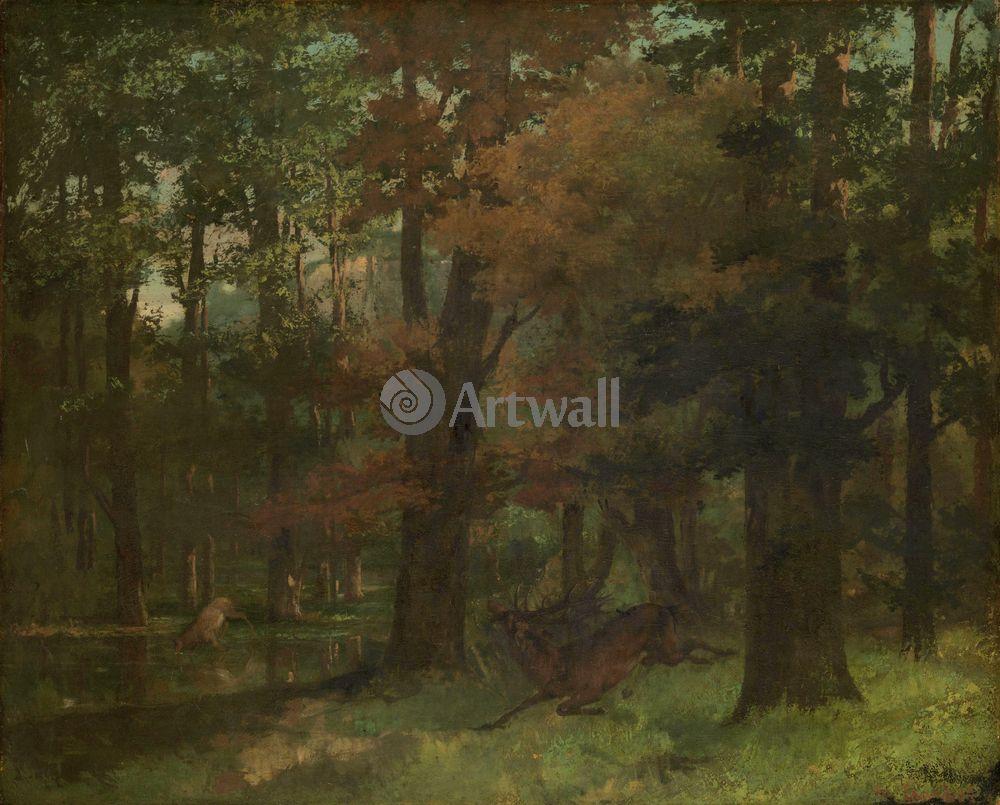 """Художники, картина """"В лесу"""", 25x20 см, на бумаге от Artwall"""