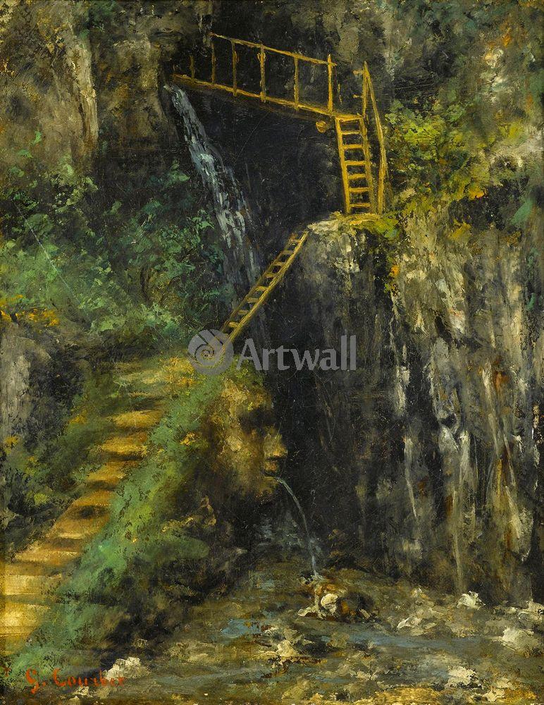 """Художники, картина """"Водопад"""", 20x26 см, на бумаге от Artwall"""