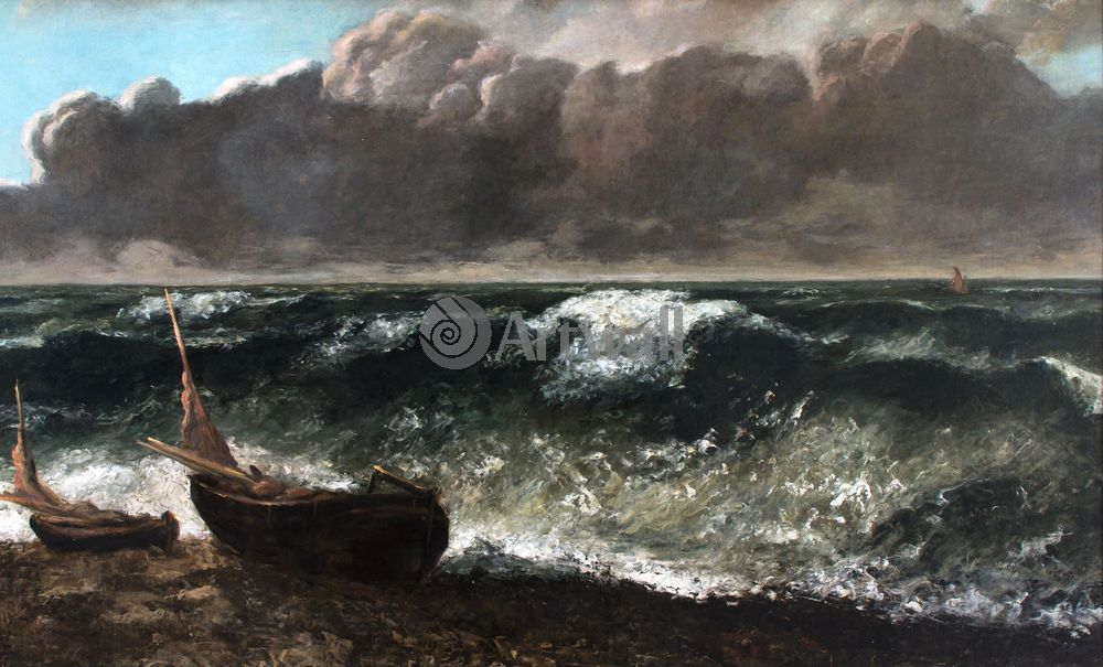 """Художники, картина """"Волна"""", 33x20 см, на бумаге от Artwall"""
