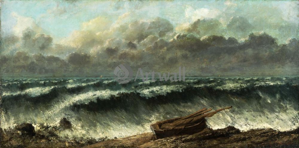 """Художники, картина """"Волны"""", 40x20 см, на бумаге от Artwall"""