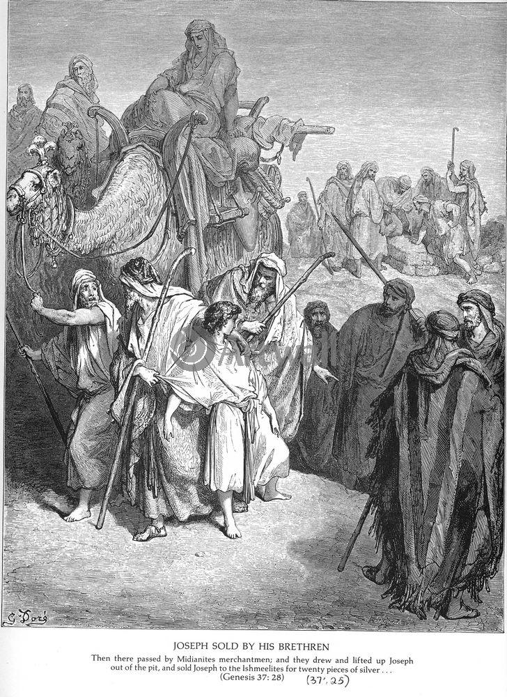 """Художники, картина """"Братья продают Иосифа, Ветхий Завет"""", 20x27 см, на бумаге от Artwall"""