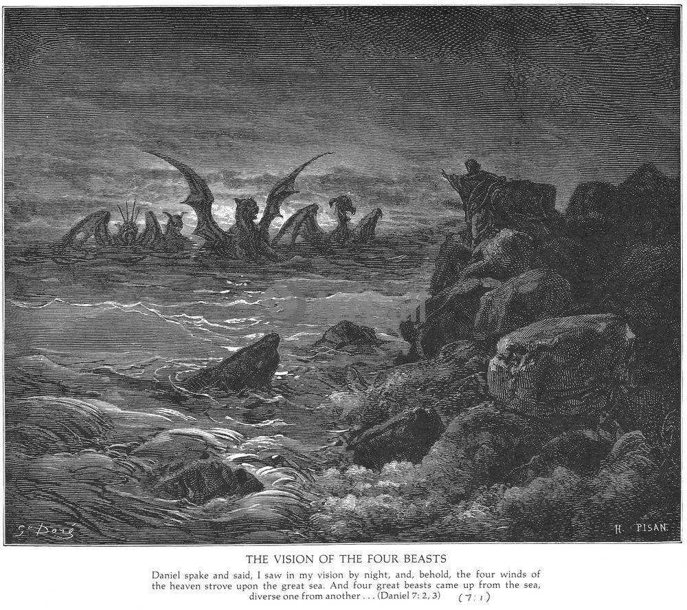 """Художники, картина """"Видение четверых зверей, Ветхий Завет"""", 23x20 см, на бумаге от Artwall"""